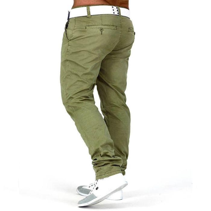 Herren Chino Hose Slim Fit Jeans Straight Leg H645 – Bild 8