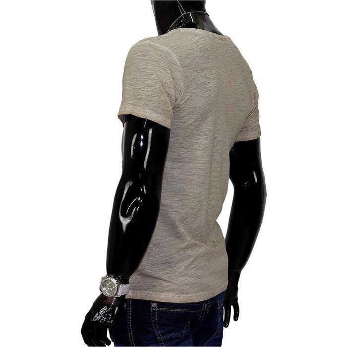 Herren T-Shirt Leo V-Neck H686 – Bild 5