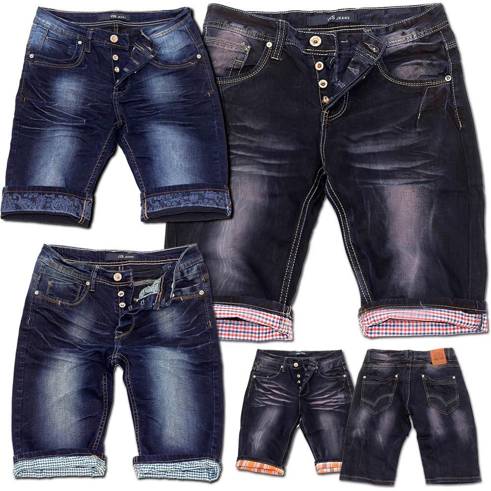 herren jeans shorts bermuda awesomeness cargo capri kurze hose vintage short ebay. Black Bedroom Furniture Sets. Home Design Ideas