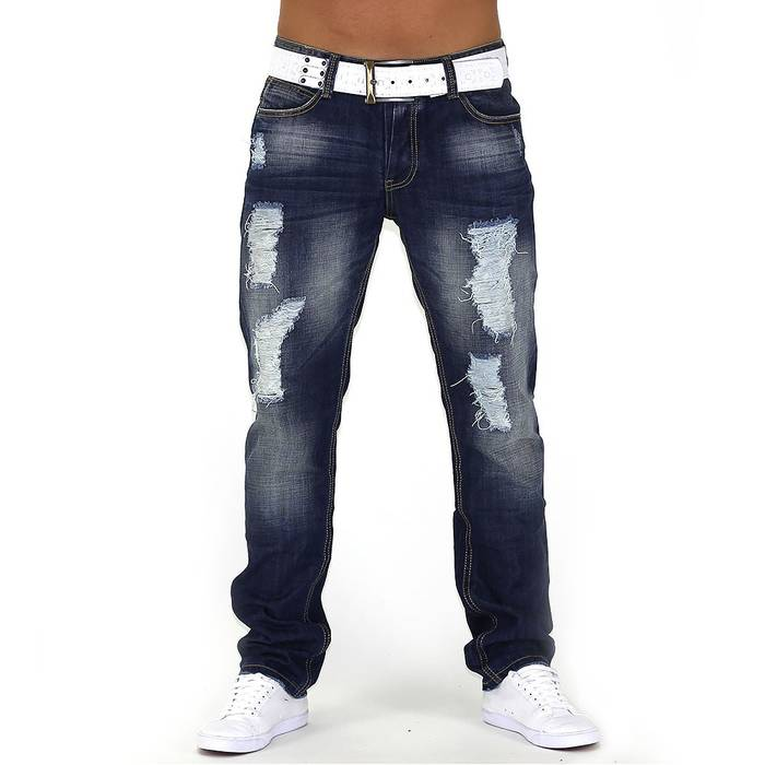 Herren Jeans Center Ripped ID749 Straight Fit (Gerades Bein) – Bild 2
