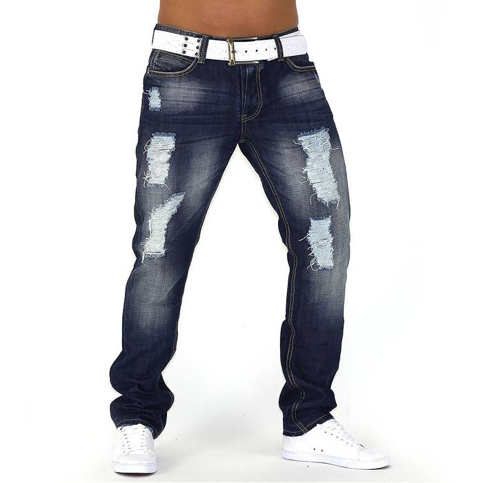 Herren Jeans Center Ripped ID749 Straight Fit (Gerades Bein) – Bild 4