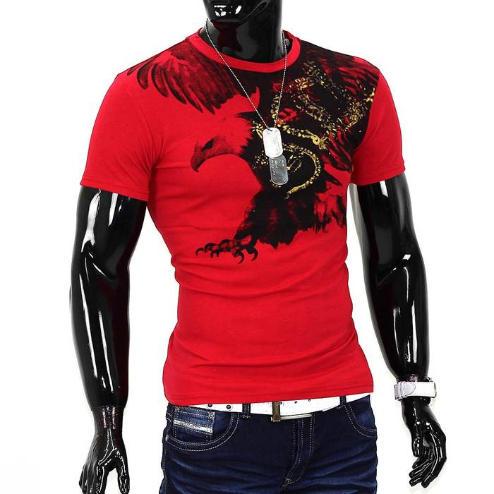 Herren T-Shirt Flying Eagle ID985 – Bild 4