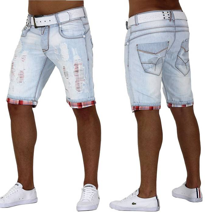 Herren Shorts White Lightning ID999
