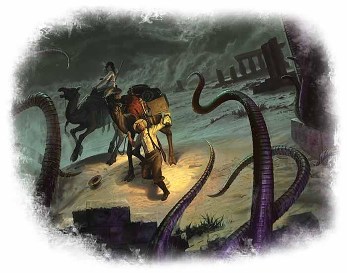 Arkham Horror Das Kartenspiel Wächter des Abgrunds Artwork