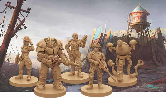 Fallout new California Helden Miniaturen