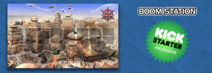Star Realms Kickstarter Exclusive Playmat Boom Station