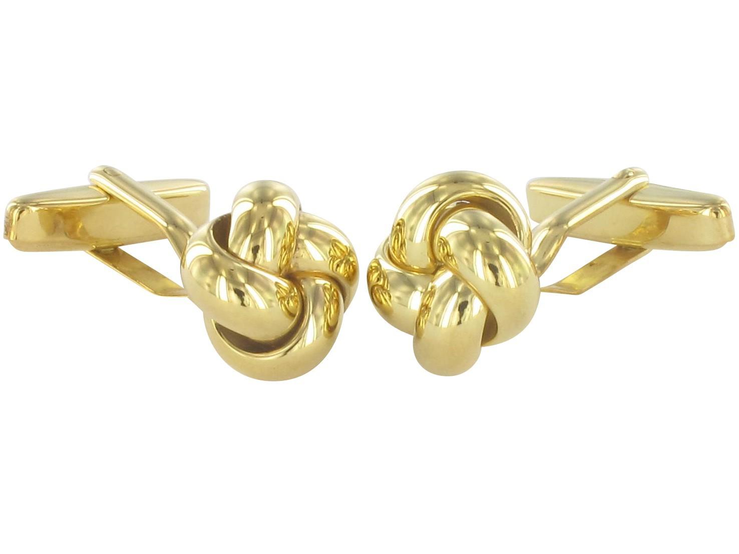 Grom Manschettenknöpfe in Knoten-Form aus 333er Gold
