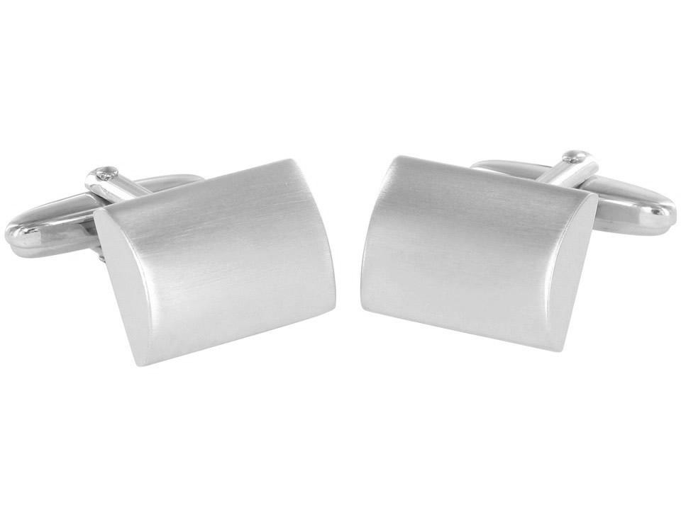 Grom Manschettenknöpfe Silber matt konvex - Gravur geeignet