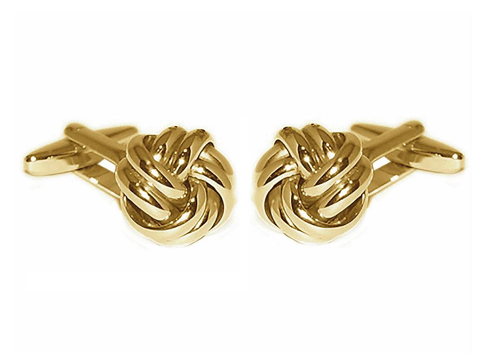 Grom Manschettenknöpfe aus 585er Gold in Knoten-Form