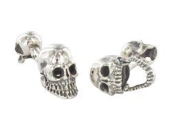 Moderne Totenkopf Manschettenknöpfe aus 925er Sterling Silber