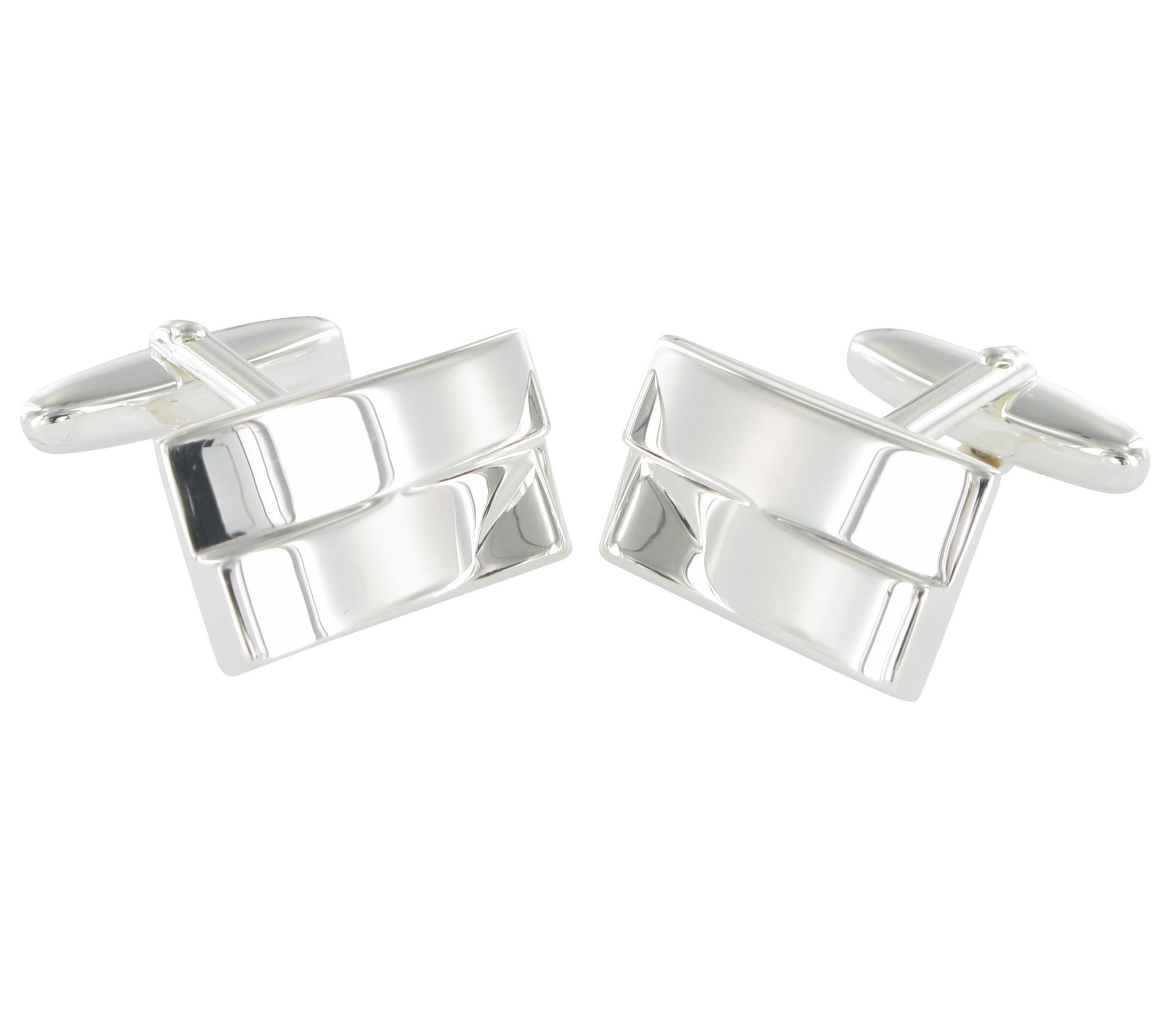 Grom Design Manschettenknöpfe Silber gravierbar
