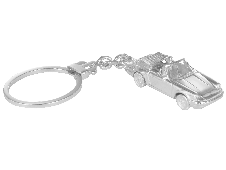 Grom Schlüsselanhänger Silber 911 Porsche Cabriolet G-MODELL