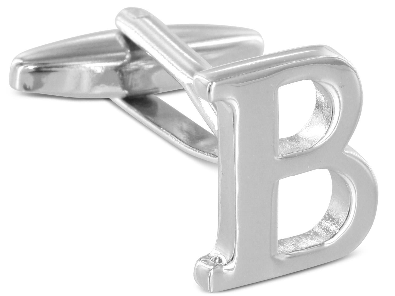 """TEROON Manschettenknopf Buchstabe Initiale """"B"""" [EIN Knopf - KEIN Paar]"""