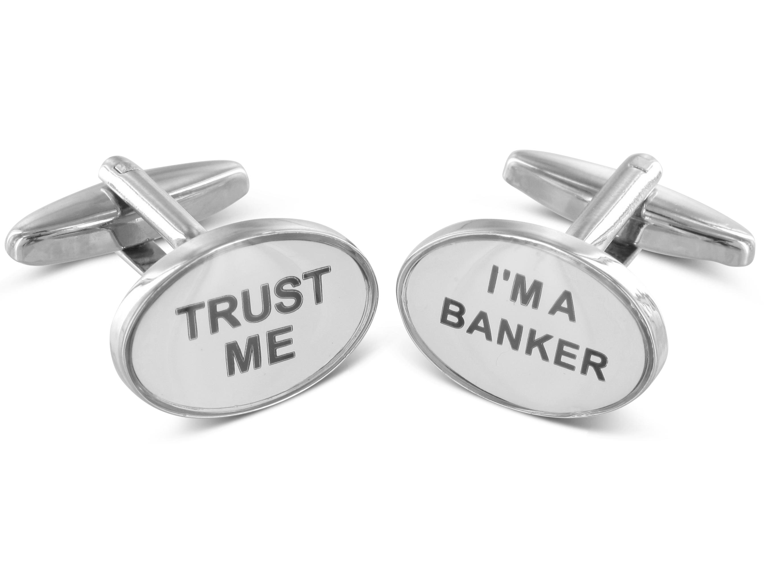 TEROON Manschettenknöpfe Trust me - I'm a banker