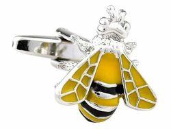 Moderne dreifarbige Silberbronze Manschettenknöpfe Insekt von TEROON