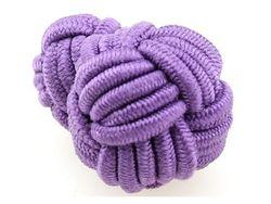 Modische Manschettenknopf Seidenknoten violett groß