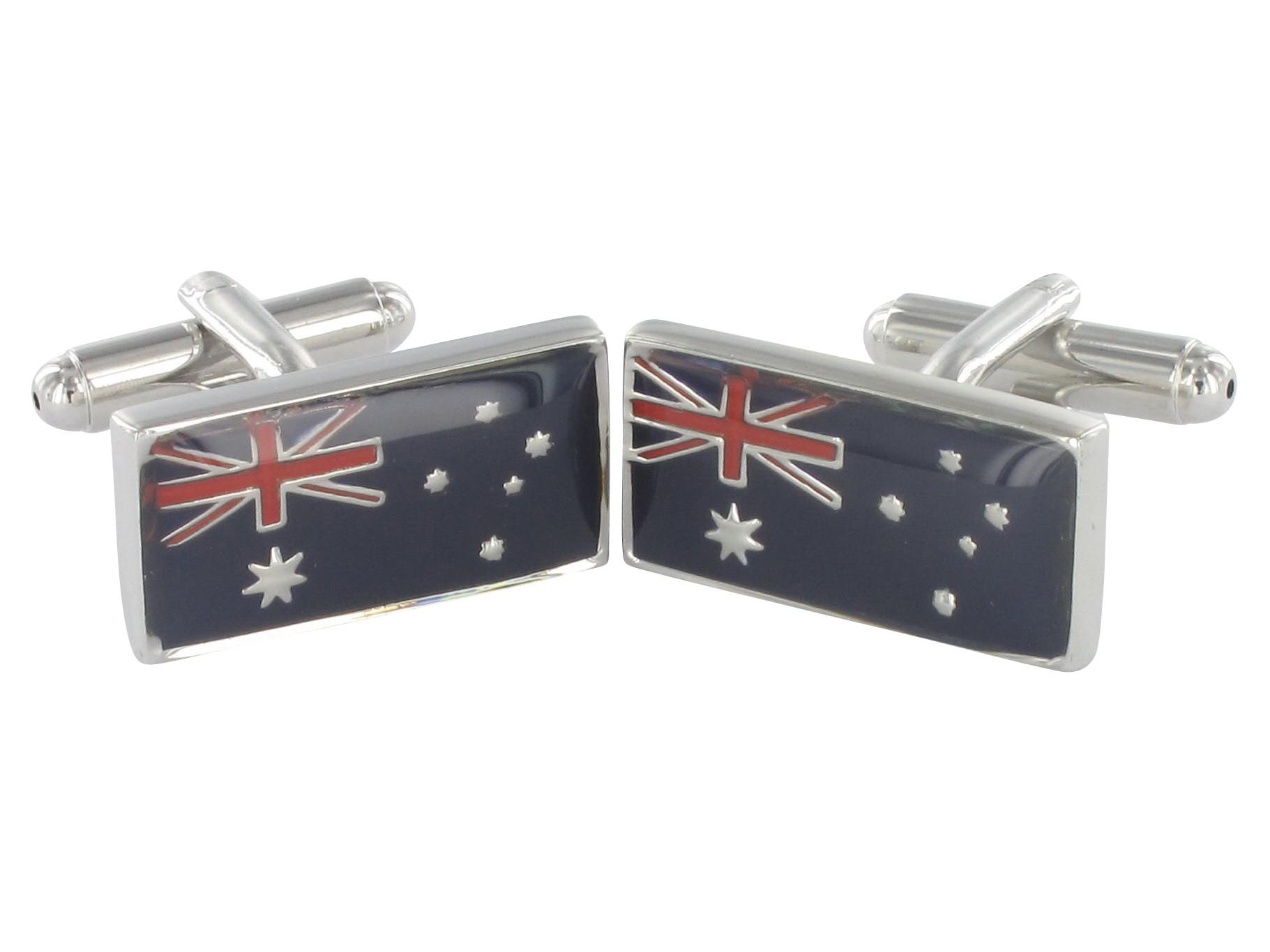 TEROON Manschettenknöpfe Australienflagge