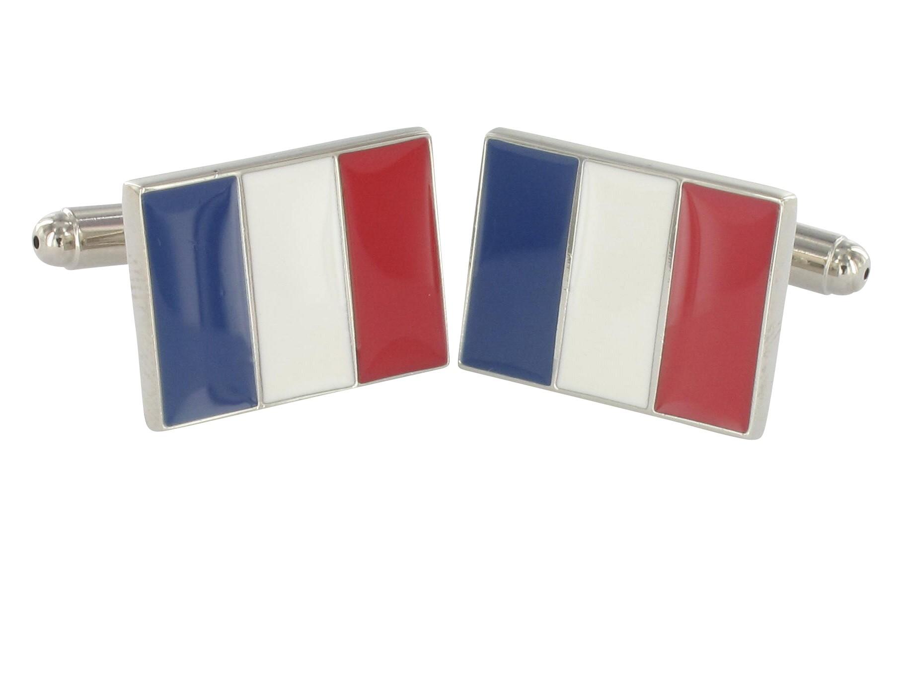 Teroon Manschettenknöpfe Frankreichflagge