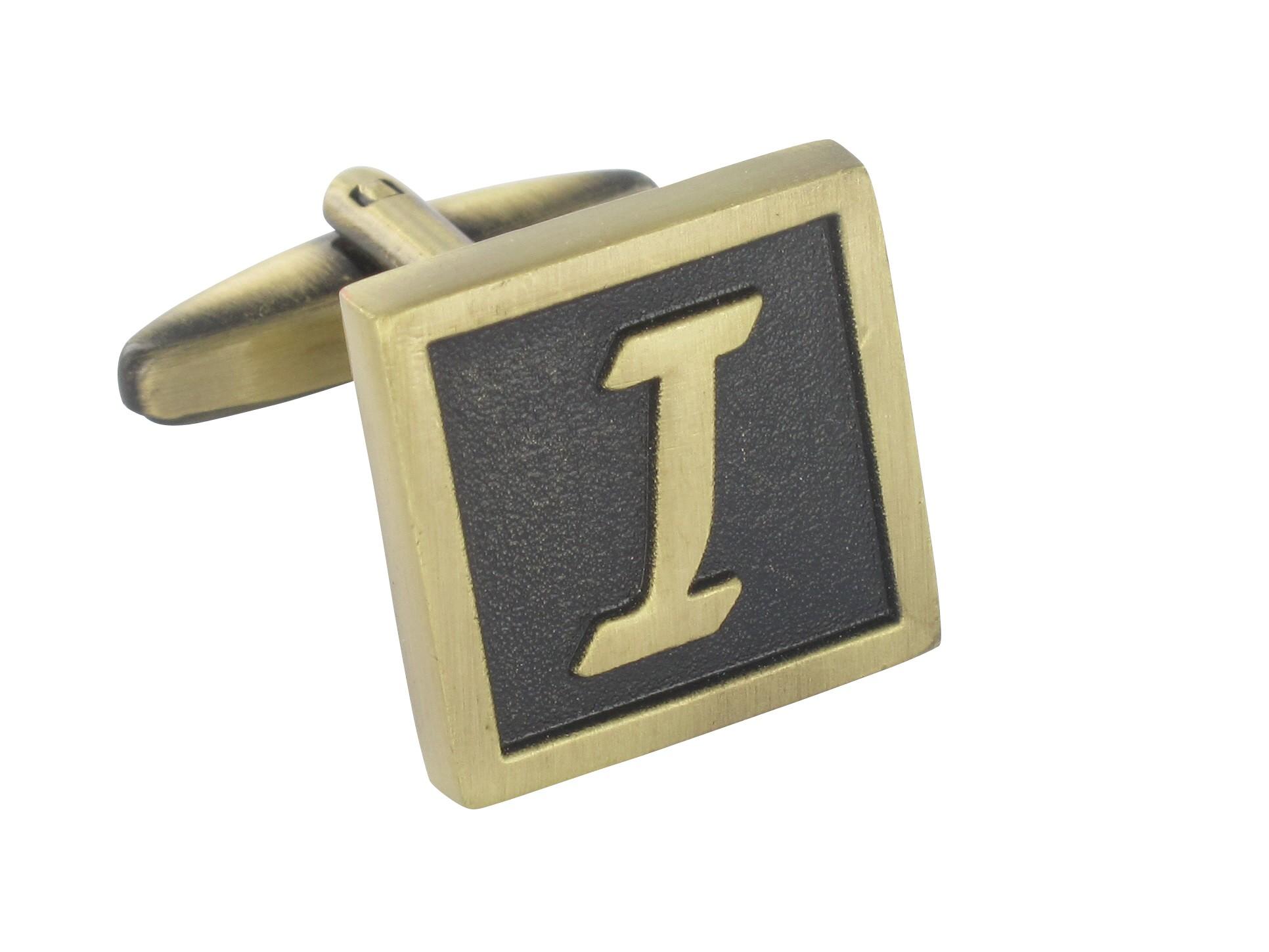 """TEROON Manschettenknopf Buchstaben Vintage """"I"""" [EIN Knopf - KEIN Paar]"""