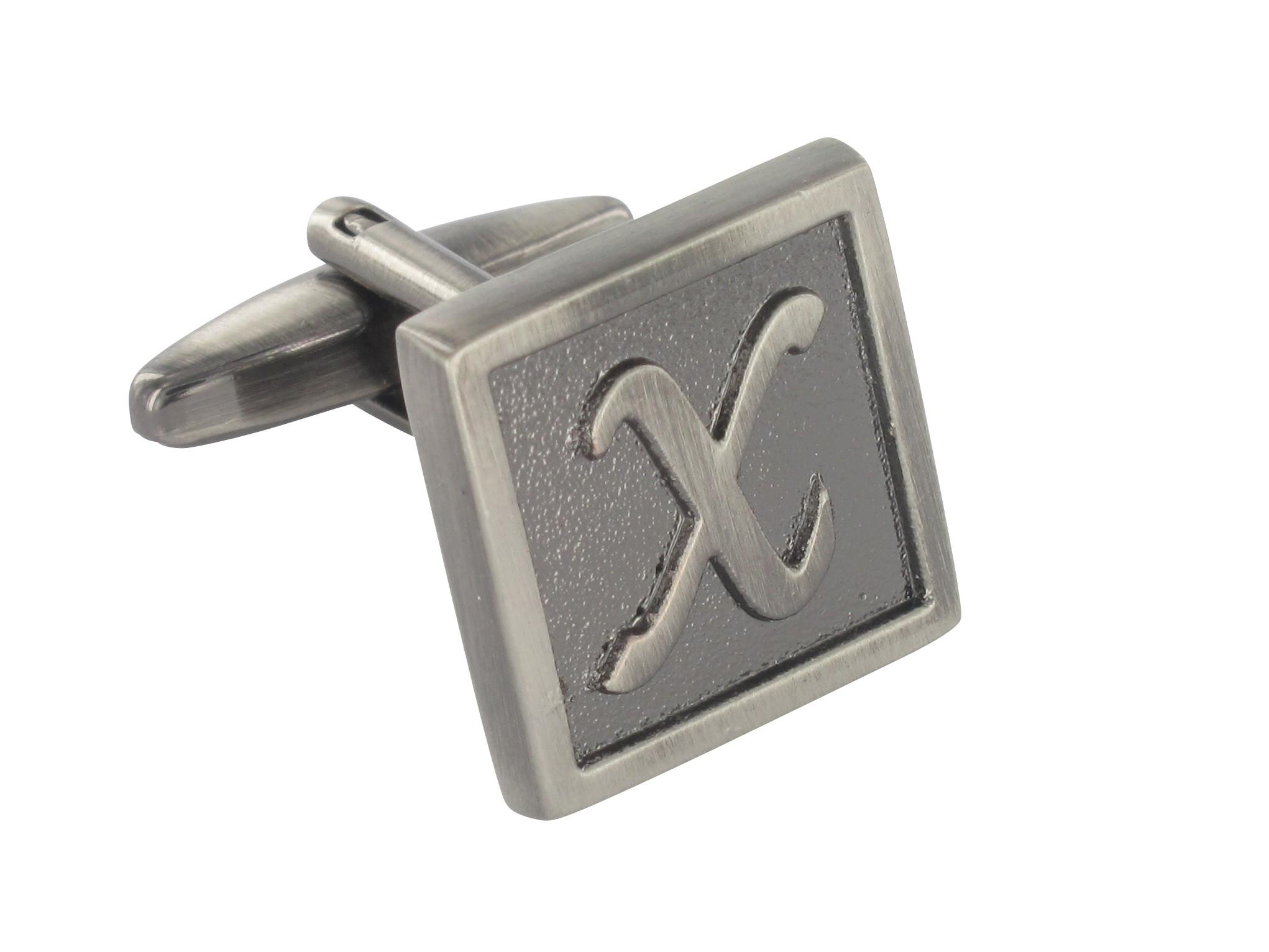 """TEROON Manschettenknopf Buchstaben Vintage """"X"""" [EIN Knopf - KEIN Paar]"""
