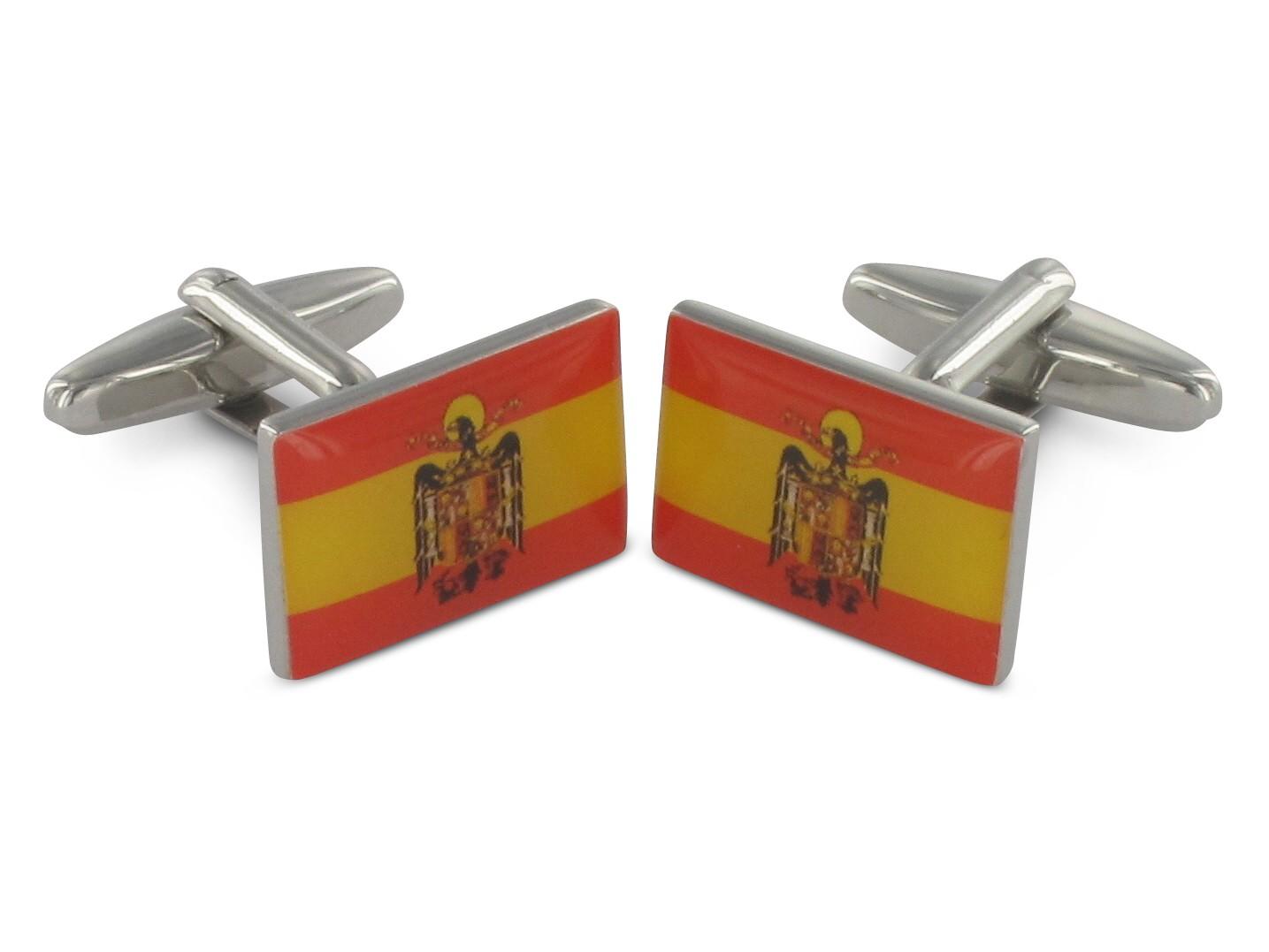 TEROON Manschettenknöpfe Spanien Flagge