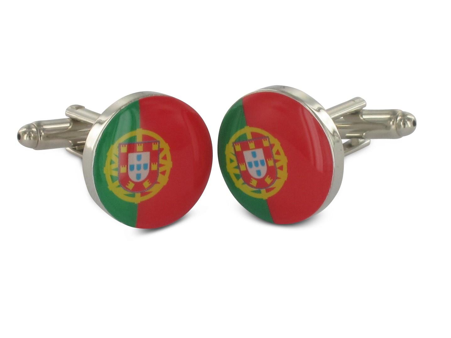 TEROON Manschettenknöpfe Portugal Flagge