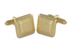 Besondere vergoldete Manschettenknöpfe in quadratischem Design