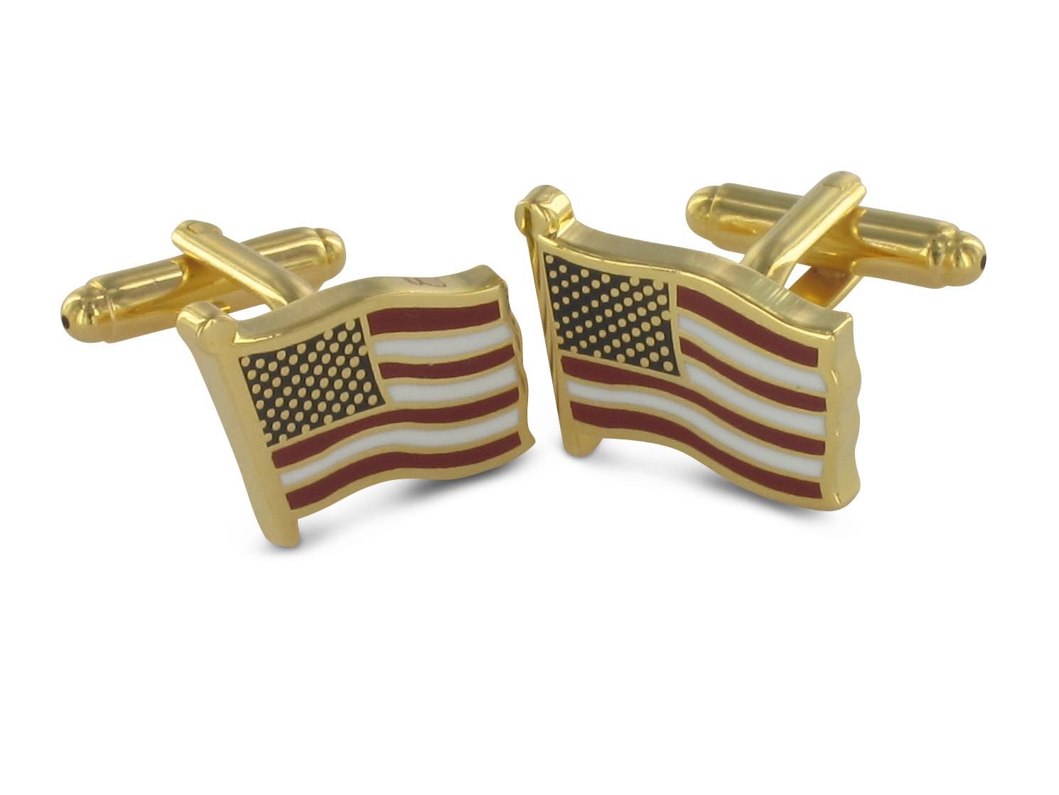 TEROON Manschettenknöpfe Flagge der Vereinigten Staaten