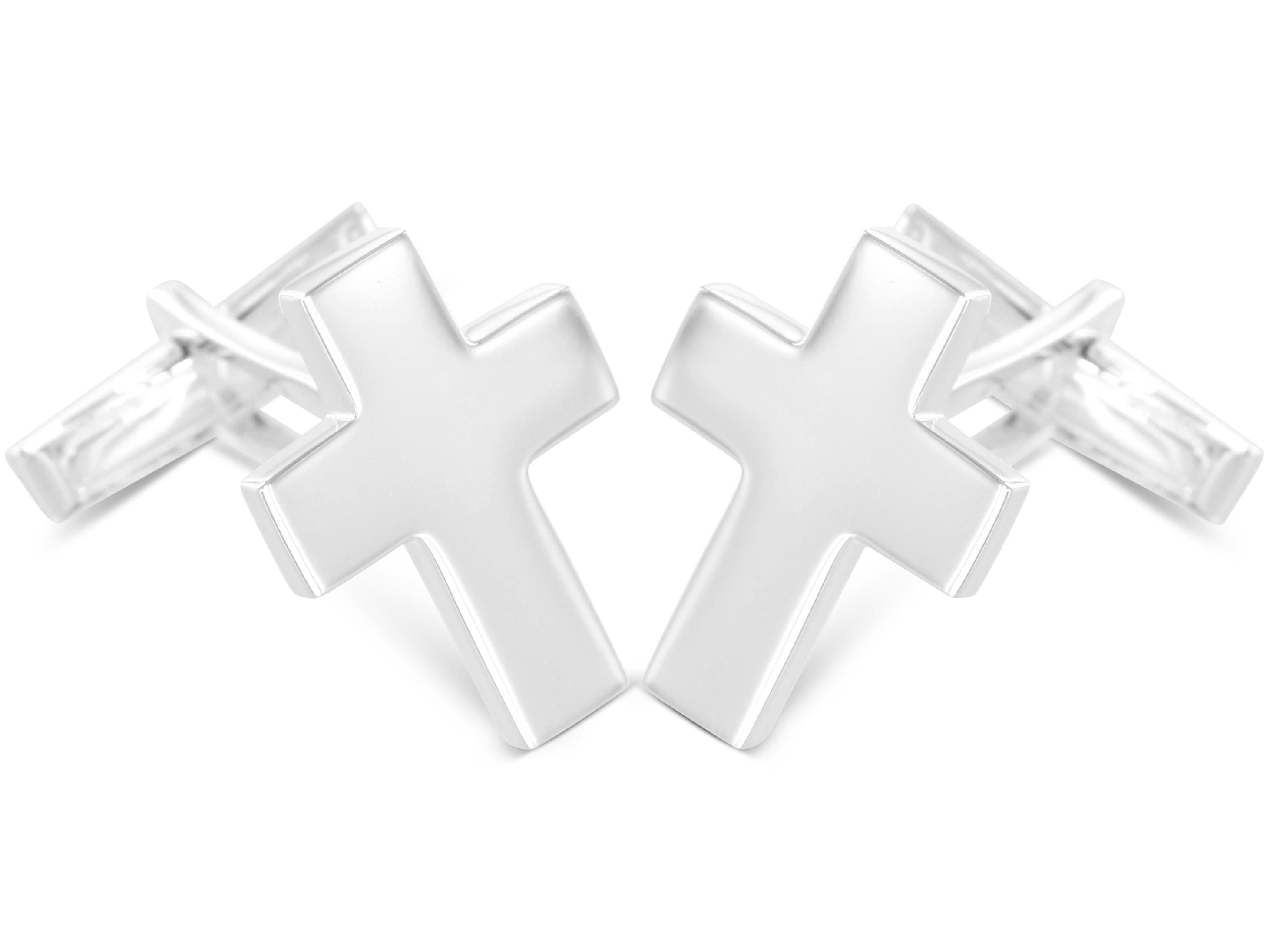 BROOKER Manschettenknöpfe Kreuz Silber