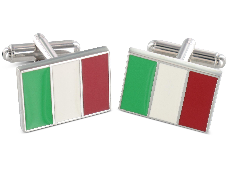 TEROON Manschettenknöpfe Italienflagge