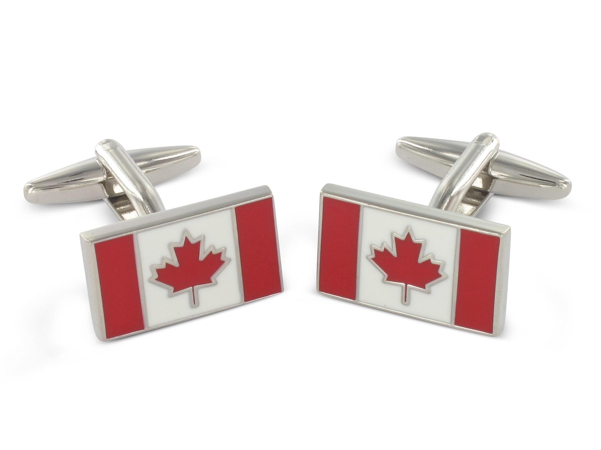 Teroon Manschettenknöpfe Kanada Flagge