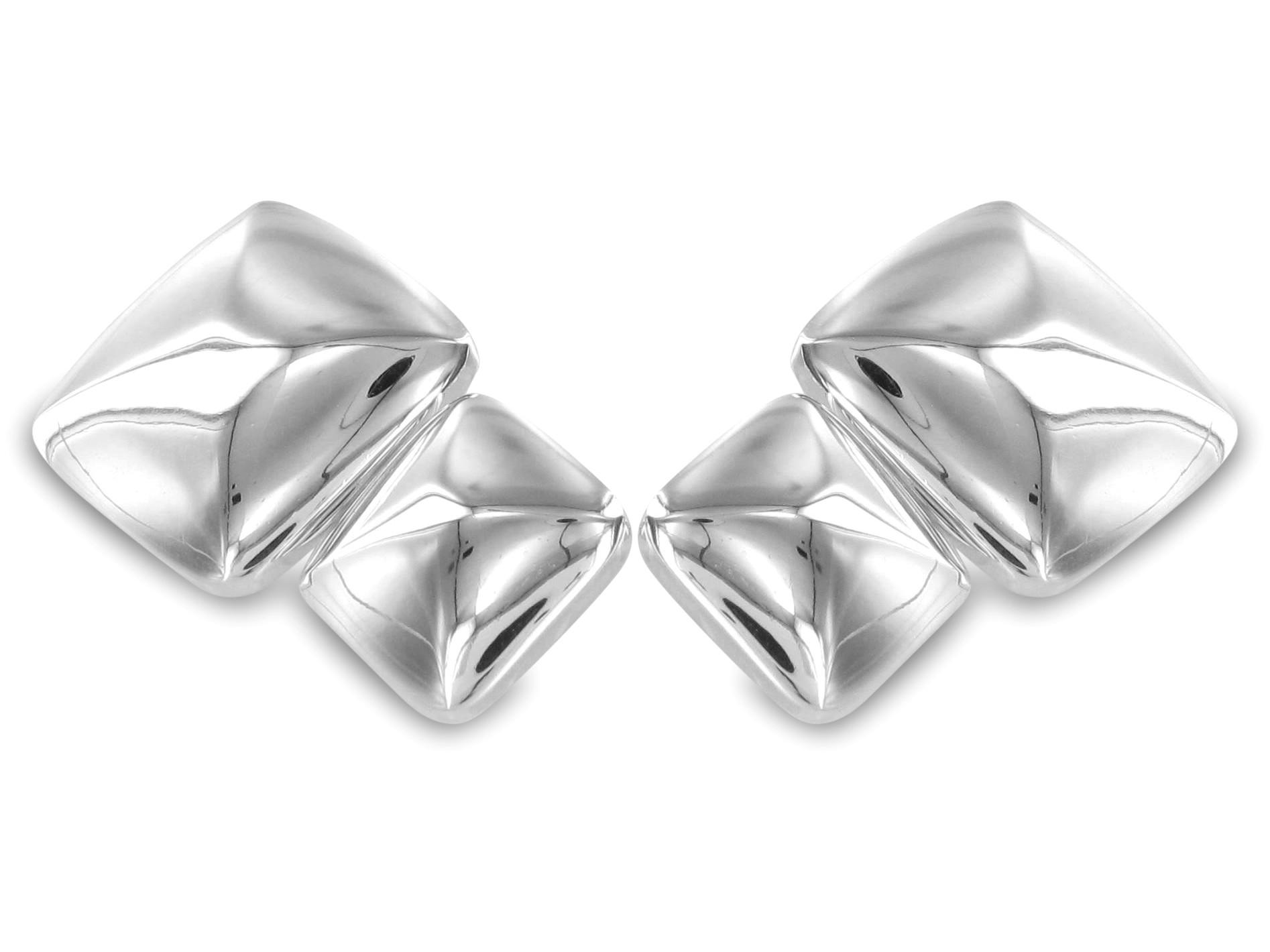 BROOKER Manschettenknöpfe Silber