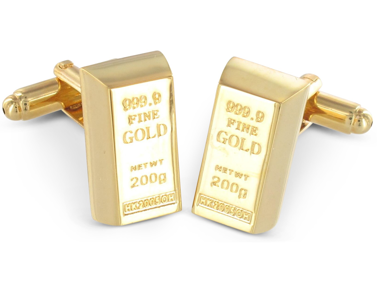 TEROON Manschettenknöpfe Goldbarren