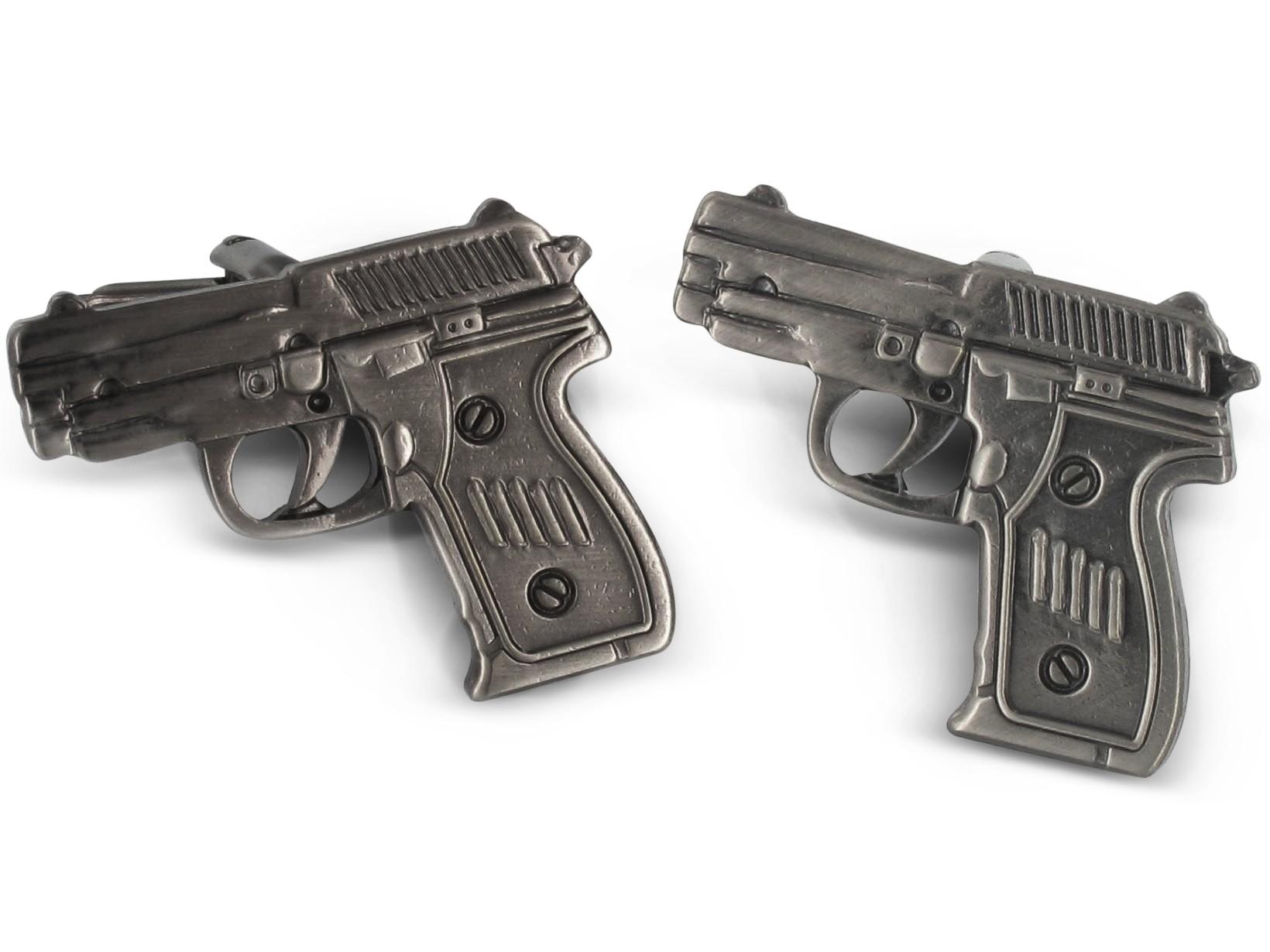 TEROON Manschettenknöpfe Pistole