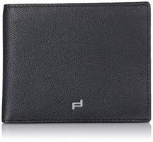 Edles schwarzes Leder Portemonnaie