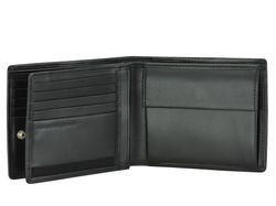 Hochwertiges schwarzes Leder Portemonnaie