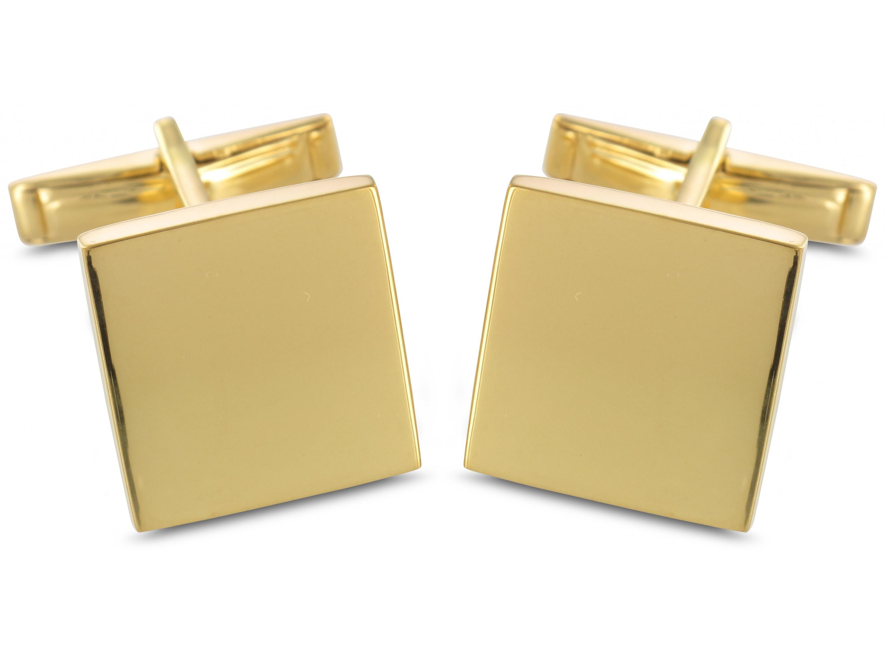 BROOKER Manschettenknöpfe Silber 24 Karat vergoldet
