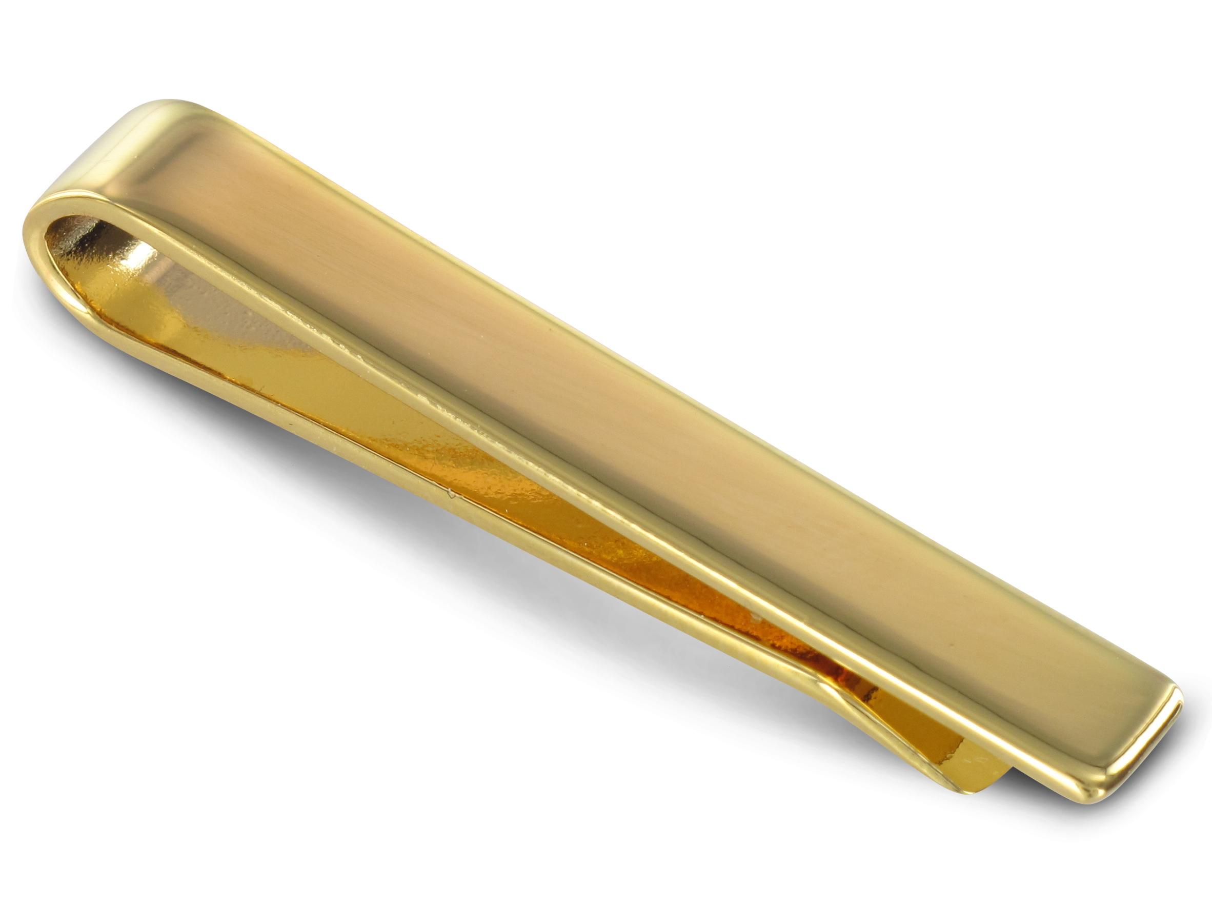 TEROON Krawattenschieber kurz vergoldet Gravur geeignet