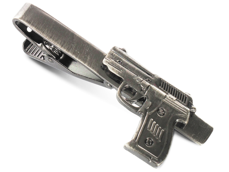 TEROON Krawattenklammer / Krawattennadel Pistole
