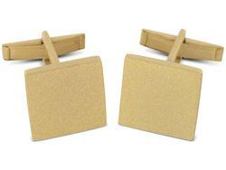 Vergoldete Gravur geeignete Manschettenknöpfe aus 925er Sterling Silber
