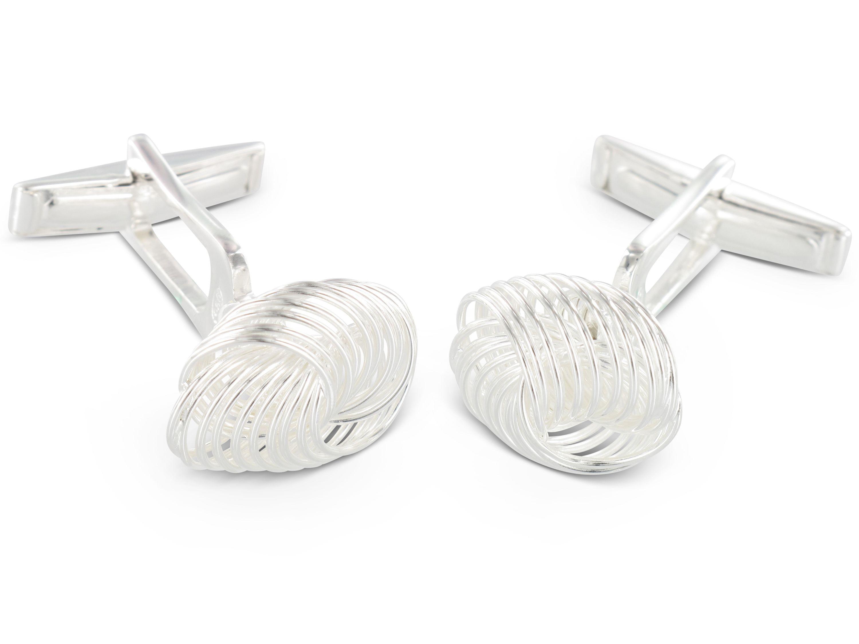 BROOKER Manschettenknöpfe Knotenform Silber