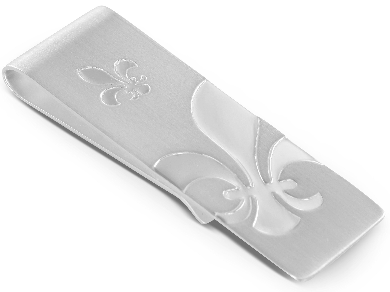 BROOKER Geldscheinklammer Fleur de Lis Silber