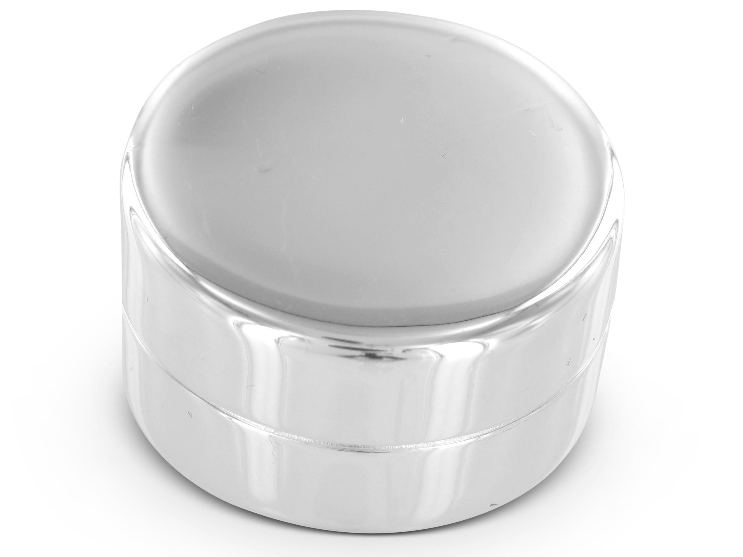 BROOKER Pillenbox Silber rund