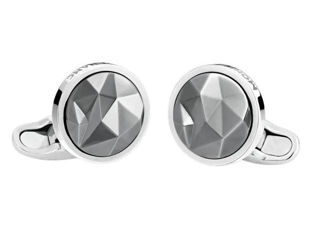 Montblanc Manschettenknöpfe Silber rutheniumbeschichtete Intarsie