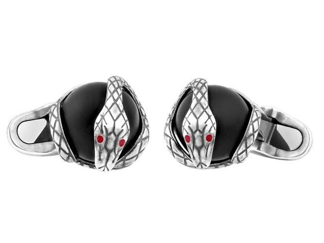 Montblanc Manschettenknöpfe Silber Schlange