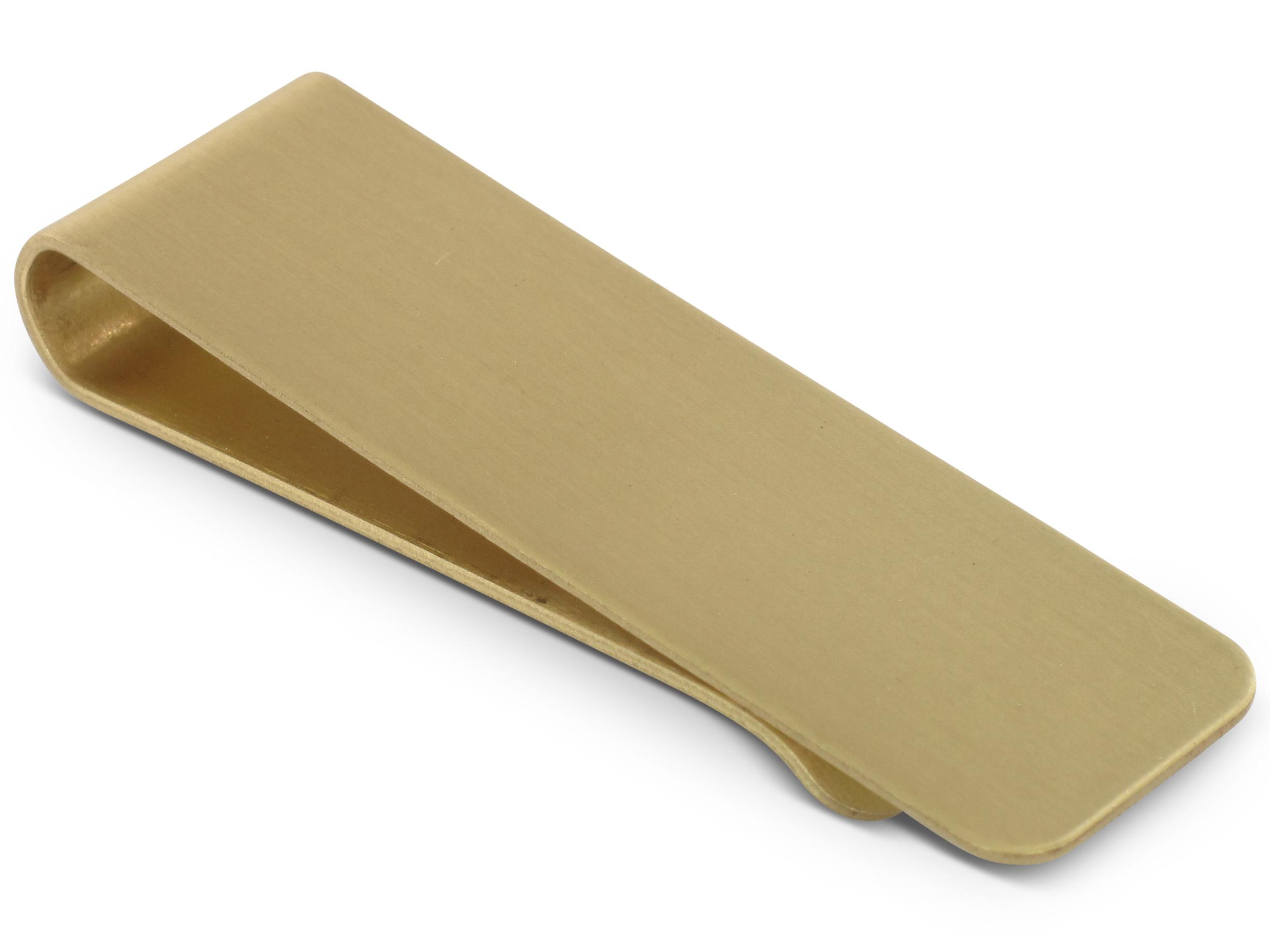 TEROON Geldscheinklammer vergoldet matt