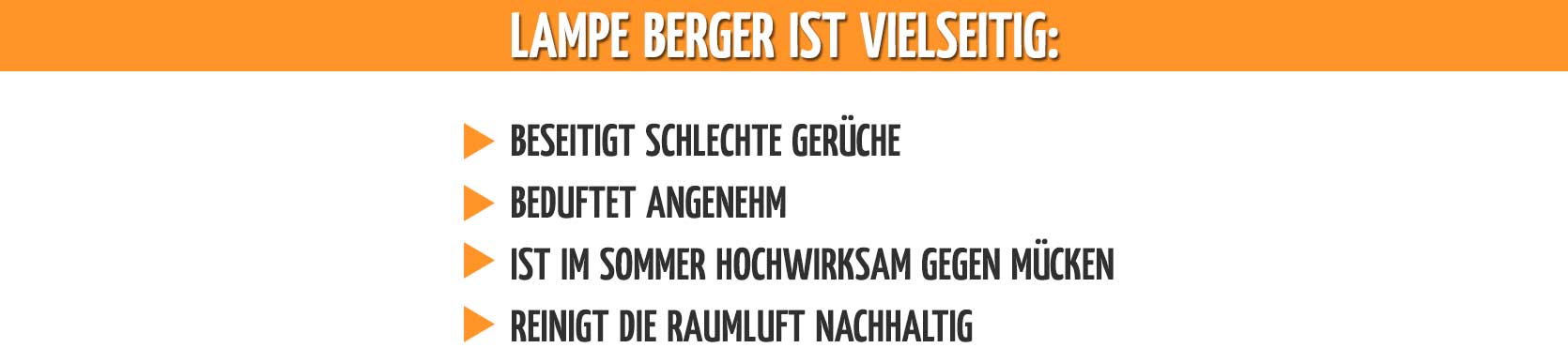 Lampe Berger ist einzigartig