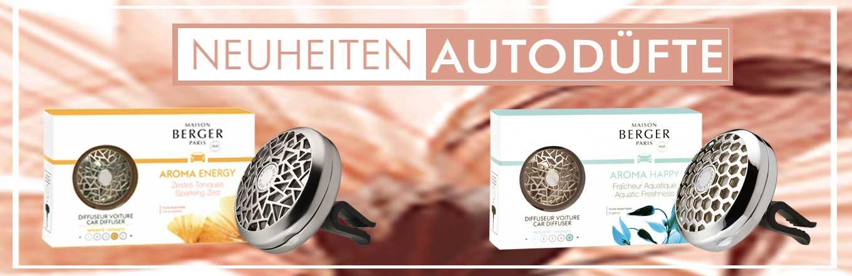 Die neuen Parfum Berger Düfte fürs Auto mit der Kraft der ätherischen Öle