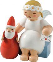 Margeritenengel mit Weihnachtsmann 634/70/29 von Wendt & Kühn
