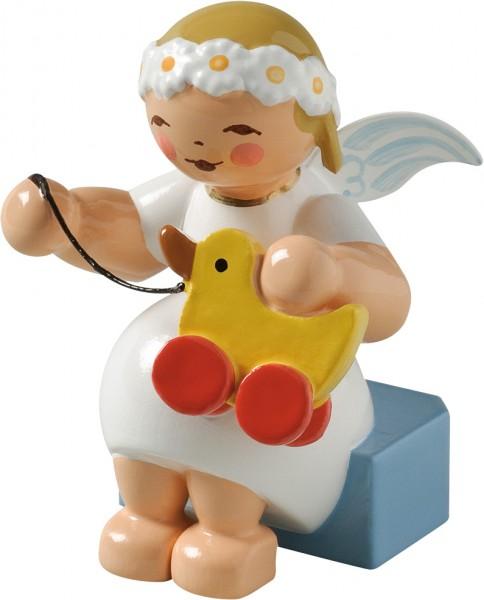 Margeritenengel mit Spielzeugente 634/70/30 von Wendt & Kühn